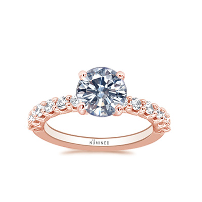 Brielle Trellis U-Prong Engagement Ring