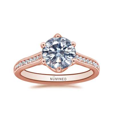Julia Six Prong Channel Set Engagement Ring