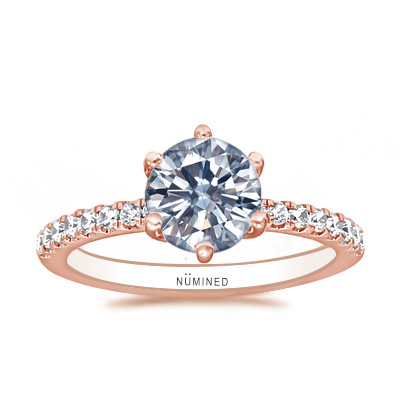 Julianna Six Prong Pave Engagement Ring
