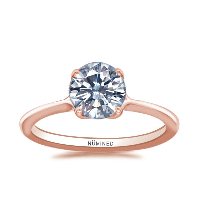 Amallia Split Shoulder Solitaire Engagement Ring