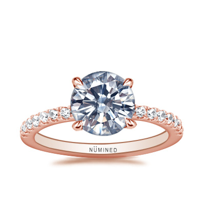 Zoe French Split Pave Engagement Ring