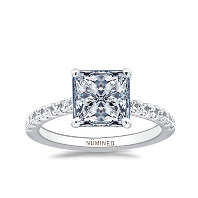 Zoe Petite French Split Pave Engagement Ring