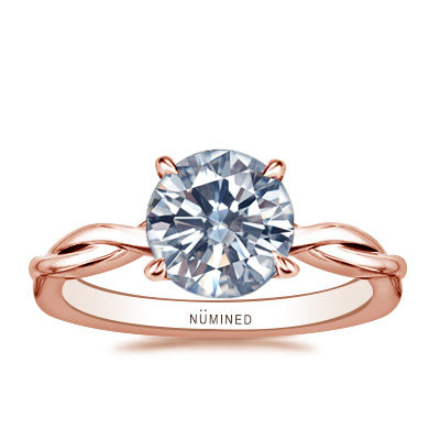 Corie Solitaire Twist Engagement Ring