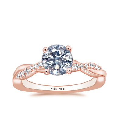 Torie Pave Twist Engagement Ring