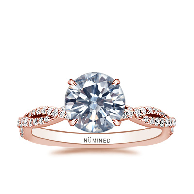 Carrie Double Pave Twist Engagement Ring