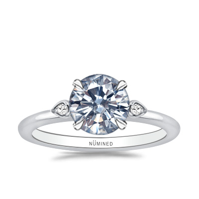 Jane Floating Profile Diamond Accent Engagement Ring
