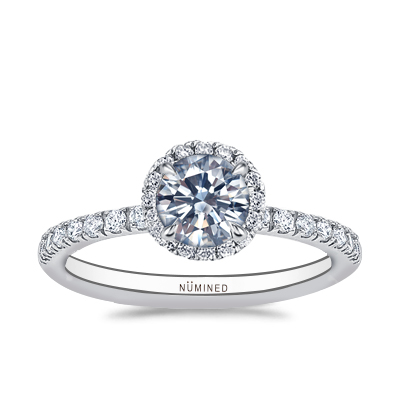 Therese Halo Open Gallery Pave Engagement Ring