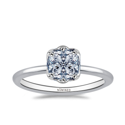 Marguerite Floral Inspired Six Prong Engagement Ring