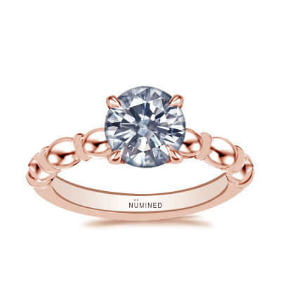 Odette Oval Band Vintage Inspired Solitaire Engagement Ring