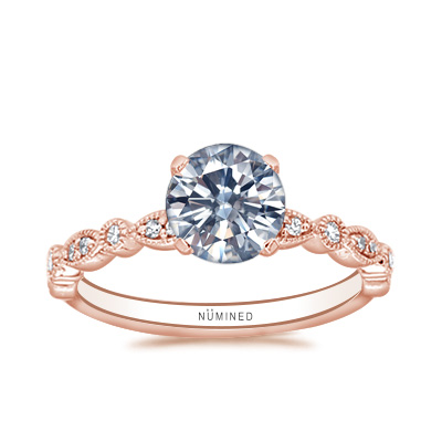 Julene Vintage Inspired Diamond Accent Engagement Ring