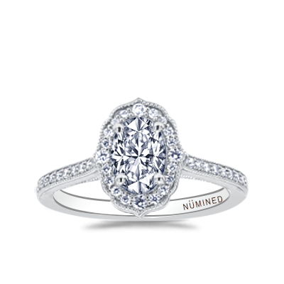 Daniela Vintage Inspired Halo Engagement Ring
