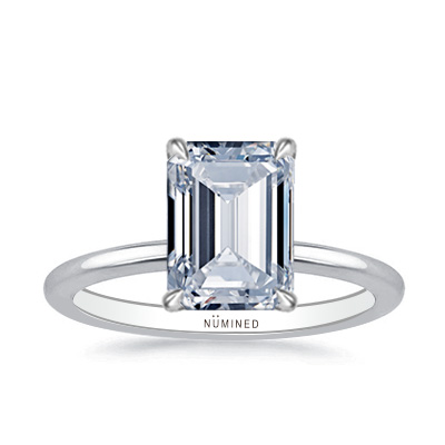 Elise Modern Solitaire Engagement Ring