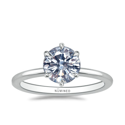 Alika Modern Six Prong Solitaire Engagement Ring