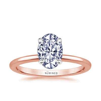 Elisette Modern Solitaire Two Tone Engagement Ring