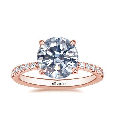 Haylie Hidden Halo Pave Engagement Ring