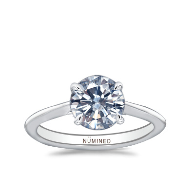 Louvre Cathedral Profile Solitaire Engagement Ring