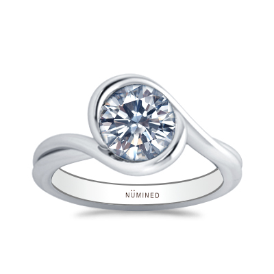 Sandreen Sculptural Solitaire Engagement Ring