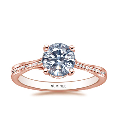 Tera Split Shoulder Hidden Halo Engagement Ring