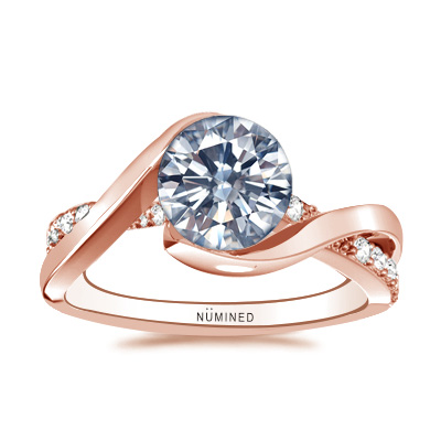 Serena Bypass Diamond Accent Engagement Ring
