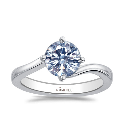Shelbie Compass Set Modern Solitaire Engagement Ring
