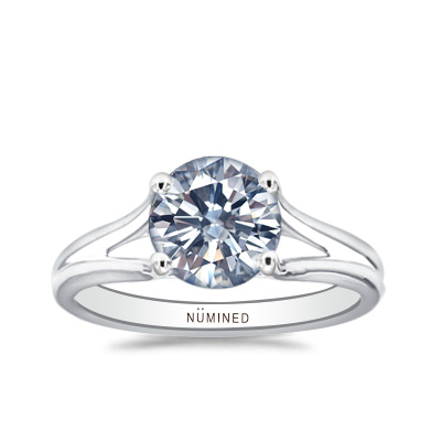 Talia Modernist Open Gallery Solitaire Engagement Ring