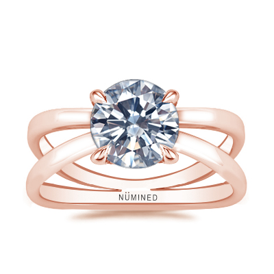 Zia X Split Shank Solitaire Engagement Ring