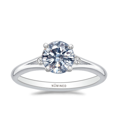 Sonia Modernist Open Gallery Engagement Ring