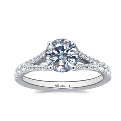 Alivia Modernist Pave Hidden Halo Engagement Ring