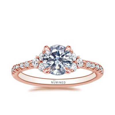 Maisy Diamond Accented French Pave Engagement Ring