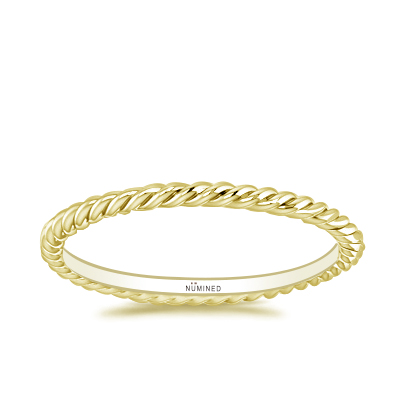 Skinny Rope Set of Three Stackable Eternity Ring