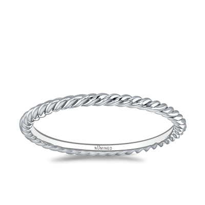 Rope Eternity Ring – Standard Slim