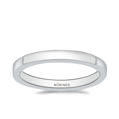 Modern Flat Wedding Ring – Standard Slim