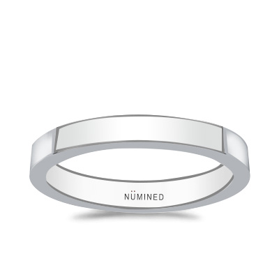 Modern Flat Wedding Ring – Thicker