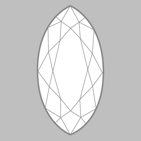 0.91 Carat H-VS1 Ideal Marquise Diamond