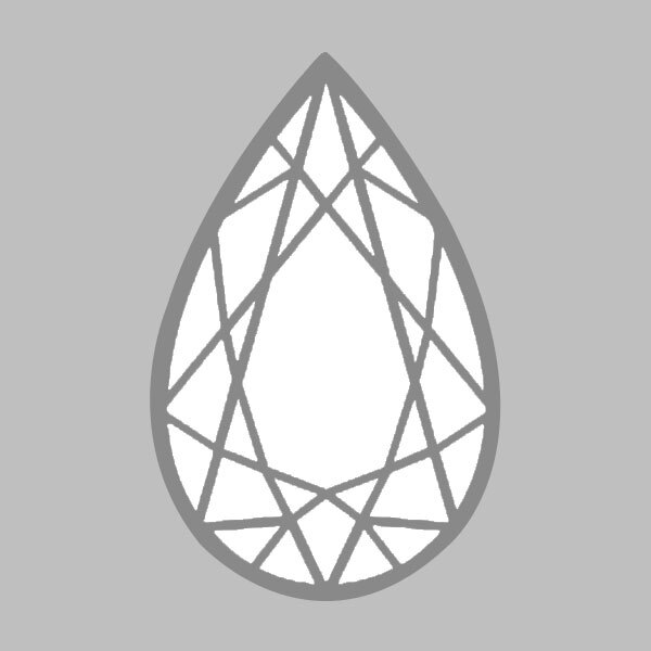 3.01 Carat F-VS1 Ideal Pear Diamond